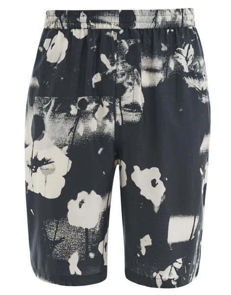 McQ Alexander McQueen Men's Elasticated Monochrome Shorts - Monochrome Floral