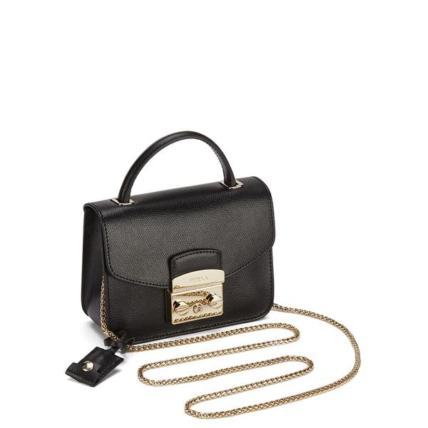 073f54e6ff Furla Women s Metropolis Top Handle Mini Crossbody Bag - Black  Image 2