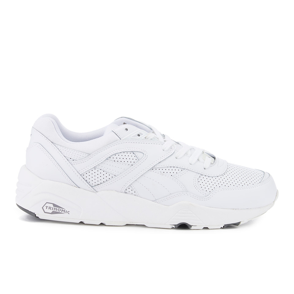 Puma Men's R698 Core Leather Trainers - White/Steel Grey