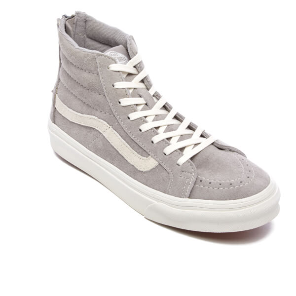 7109847442 Vans Women s Sk8-Hi Slim Zip Trainers - Cool Grey Blanc De Blanc ...