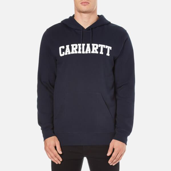 Carhartt Men's Hooded College Sweatshirt - Navy/White