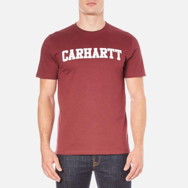 Carhartt Men's Short Sleeve College T-Shirt - Chianti/White
