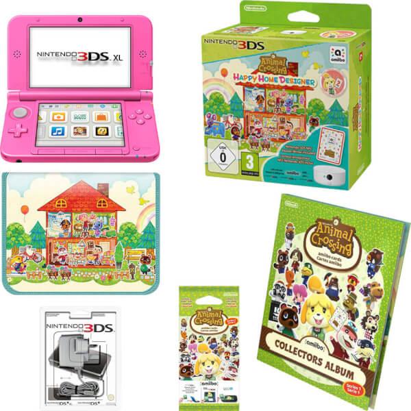 Nintendo 3ds xl pink animal crossing happy home - Animal crossing happy home designer bundle ...