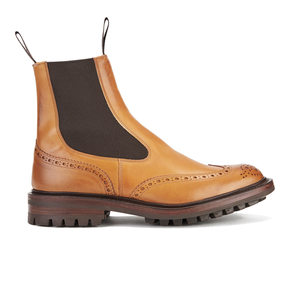 Tricker's Men's Henry Leather Commando Sole Chelsea Boots - Tan