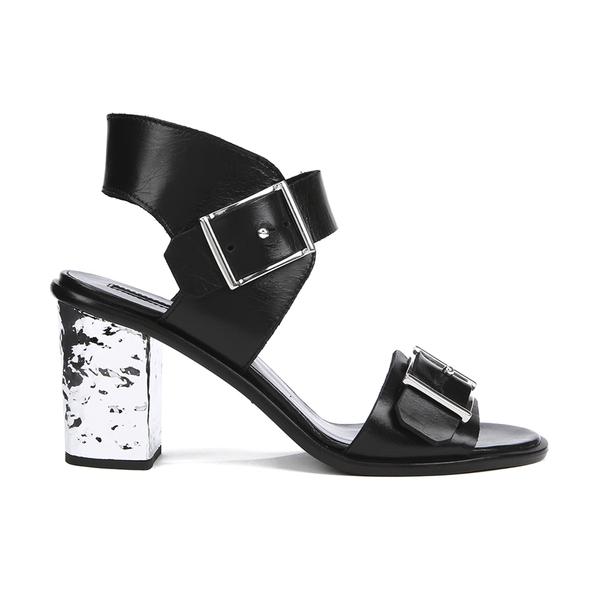 McQ Alexander McQueen Women's Shackwell Strap Heeled Sandal - Black