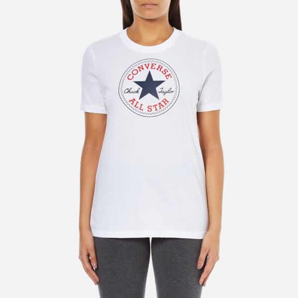 Converse Women's All Star Core Solid Chuck Patch T-Shirt - White