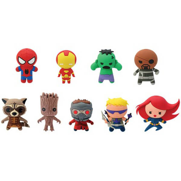 Marvel 3-D Figural Foam Series 1 Key Chain