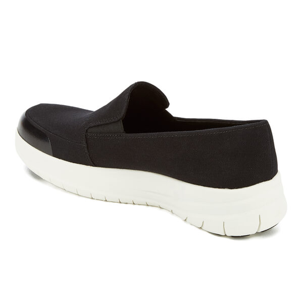 Fitflop Women S Sporty Pop Canvas Skate Slip On Trainers