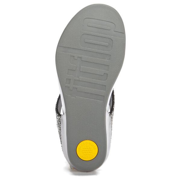718398e8cca3e2 FitFlop Women s Banda Roxy Toe-Post Sandals - Pewter Womens Footwear ...