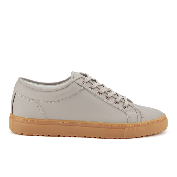 ETQ. Men's Low Top 1 Rubberized Leather Trainers - Alloy/Gum
