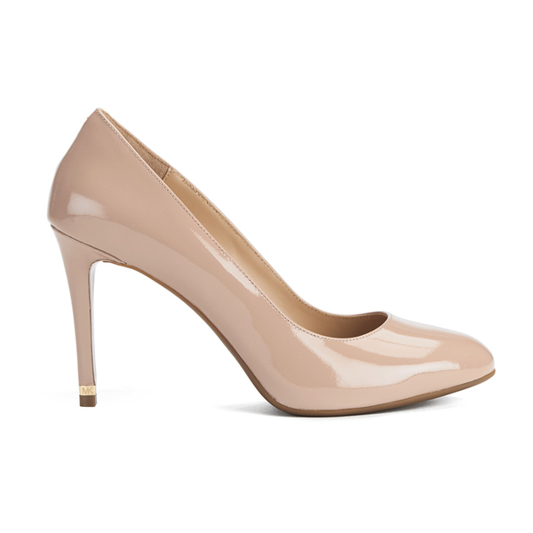 MICHAEL MICHAEL KORS Women's Ashby Leather Court Shoes - Dark Nude