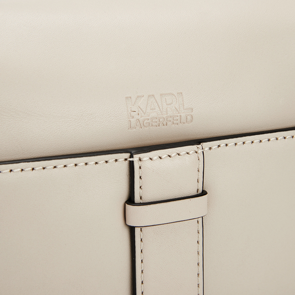 bbce64add8f Karl Lagerfeld Women s K Chain Small Shoulder Bag - Cream  Image 4