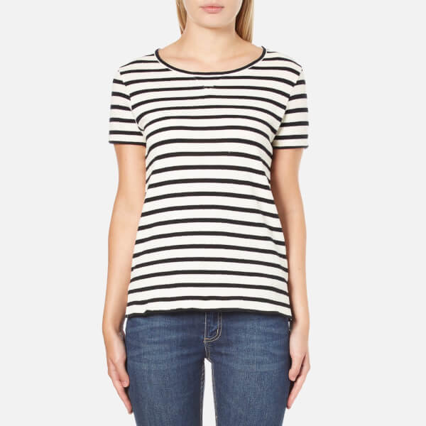 A.P.C. Women's Lynn Striped T-Shirt - Navy