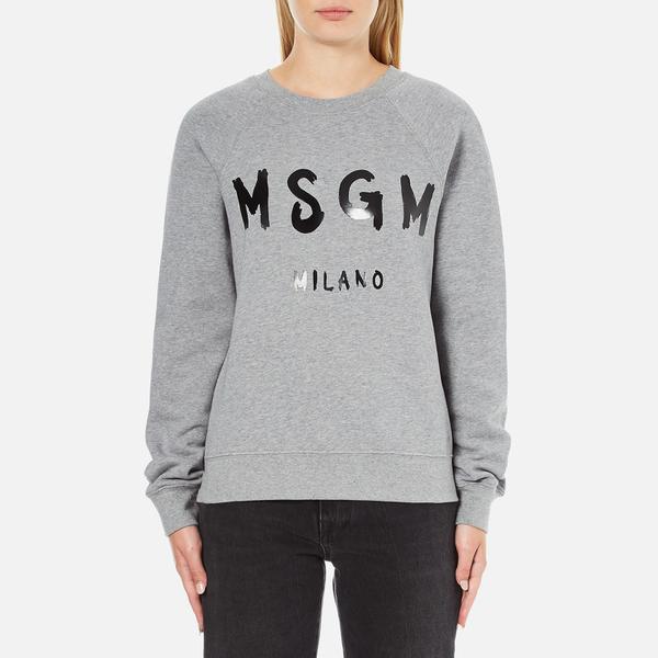 MSGM Women's Logo Sweatshirt - Grey