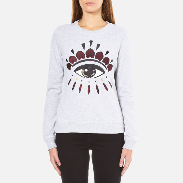 KENZO Women's Eye Logo Sweatshirt - Light Grey