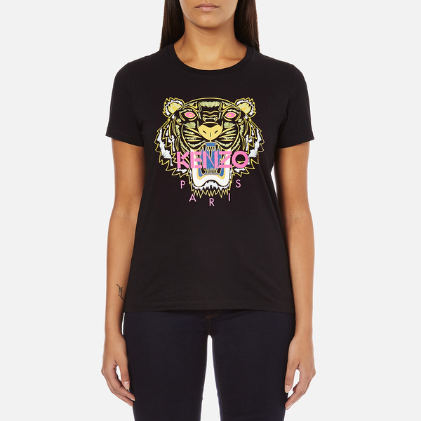 KENZO Women's Tiger Embroidered T-Shirt - Black