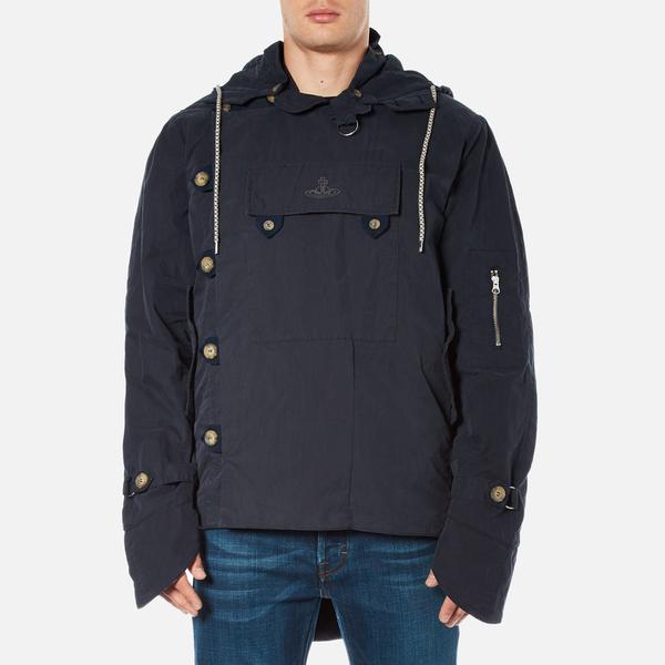 Vivienne Westwood Anglomania Men's Military Parka Jacket - Dark Blue