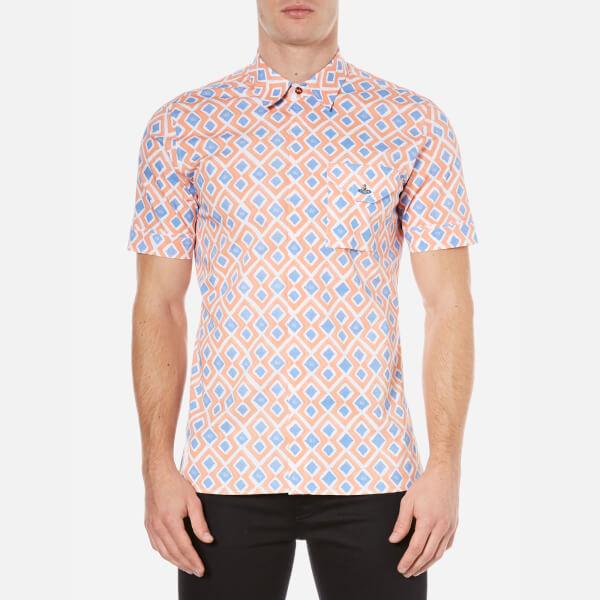 Vivienne Westwood MAN Men's Printed Street Shirt - Blue Diamonds