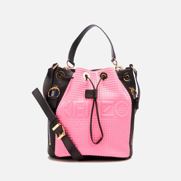 KENZO Women's Kombo Bucket Bag - Pink/Bordeaux