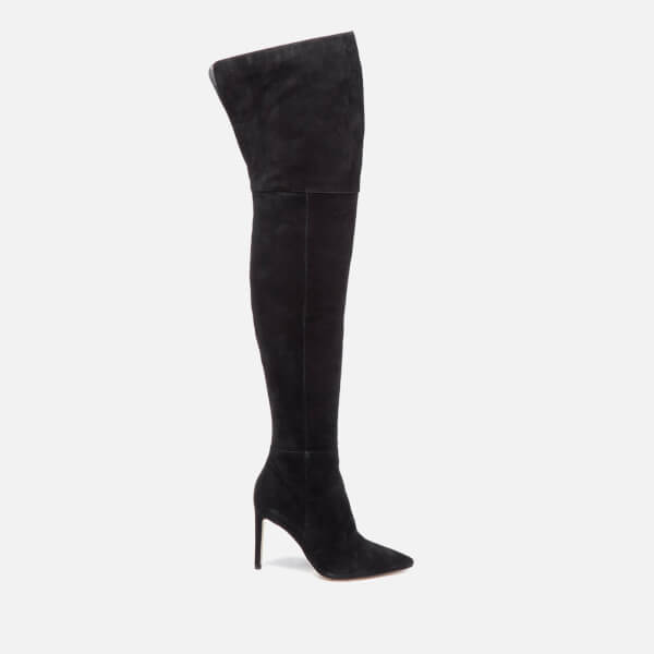 Sam Edelman Women's Bernadette Suede Thigh High Boots - Black