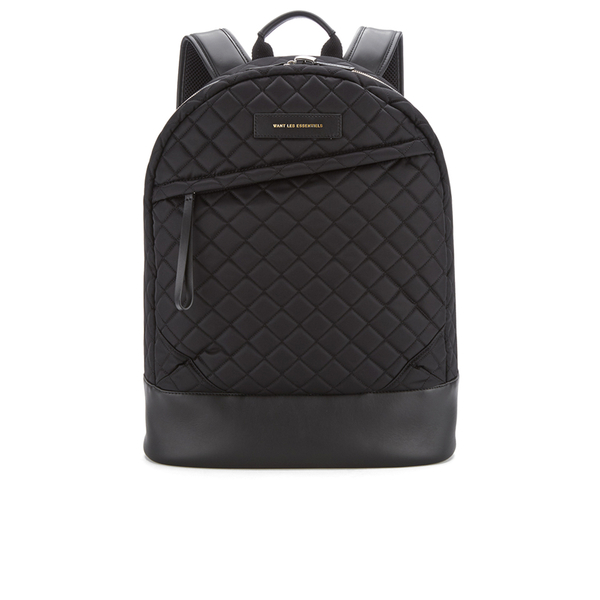 WANT LES ESSENTIELS Men's Kastrup 15' Backpack - Black Quilt/Black