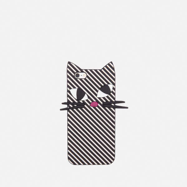 Lulu Guinness Women's Kooky Cat Stripe iPhone 6 Case - Black/White