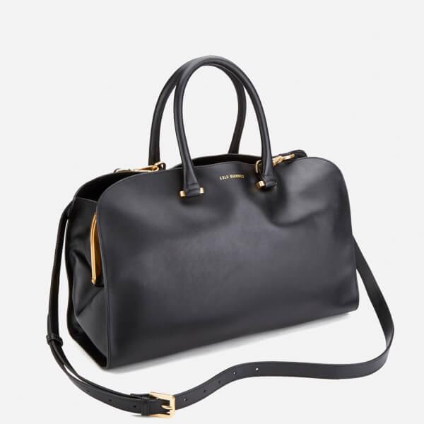 a8ba4092c37 Lulu Guinness Women s Vivienne Medium Smooth Leather Tote Bag - Black   Image 3