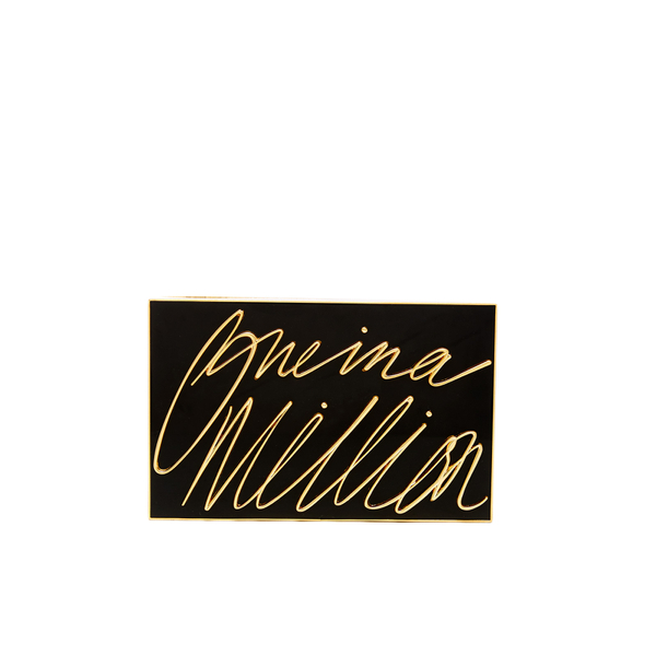 Lulu Guinness Women's Olivia 'One In A Million' Clutch - Black/Gold