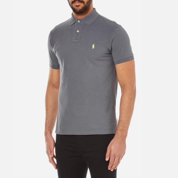 Polo Ralph Lauren Men's Custom Fit Polo Shirt Marine Grey
