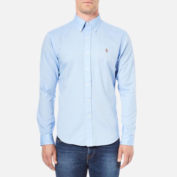 Polo Ralph Lauren Men's Long Sleeve Oxford Shirt - Light Blue: Image 1