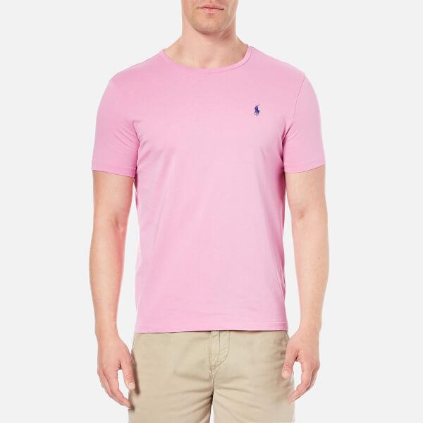 Polo ralph lauren men 39 s crew neck t shirt caribbean pink for Pink and white ralph lauren shirt