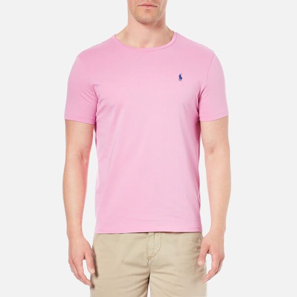 Polo ralph lauren men 39 s crew neck t shirt caribbean pink for Mens pink shirts uk