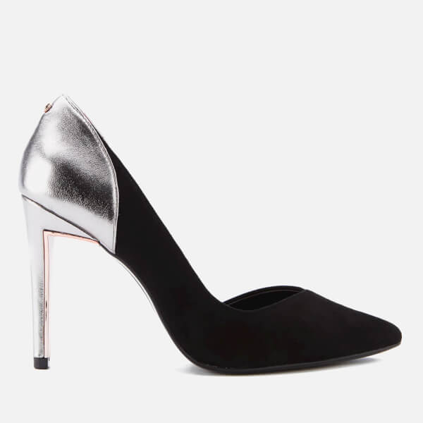 Ted Baker Women's Giulla Metallic Suede/Leather Court Shoes - Black