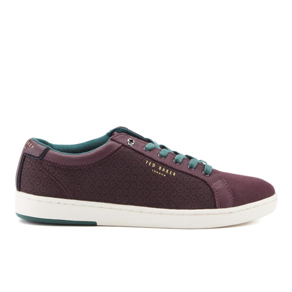 Ted Baker Men's Keeran 4 Cupsole Trainers - Dark Red: Image 1