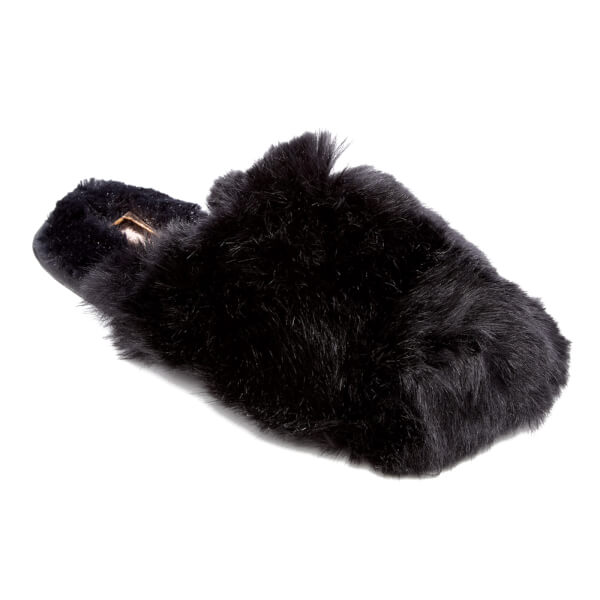 54b09ddb3b6c26 Ted Baker Women s Hawleth Faux Fur Slippers - Black  Image 2