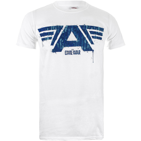 Marvel Men's Captain America Civil War A-Wings T-Shirt - White