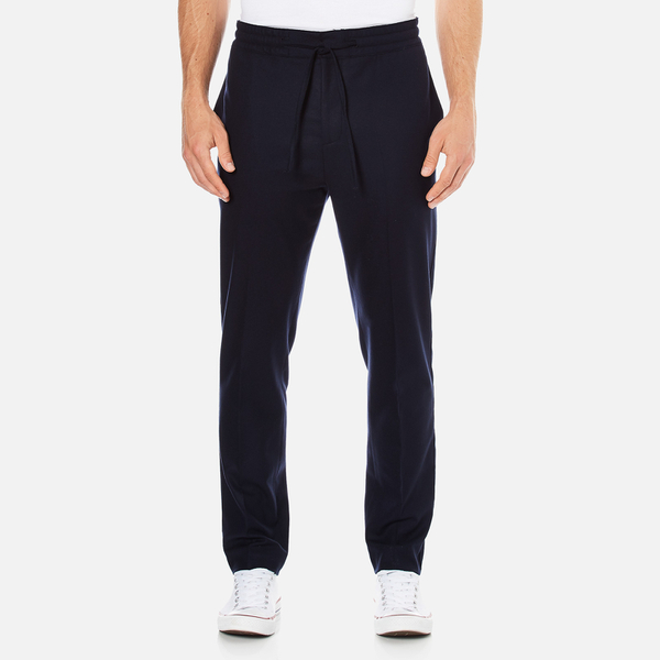 MSGM Men's Casual Fit Trousers - Navy