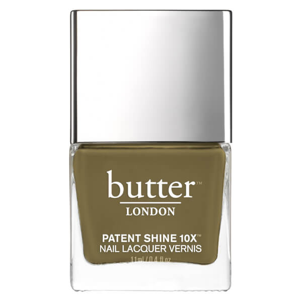 butter LONDON Patent Shine 10X Nail Lacquer 11ml - British Khaki