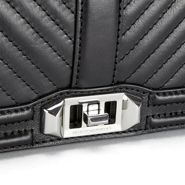 Rebecca Minkoff Women S Geo Quilted Love Crossbody Bag Black