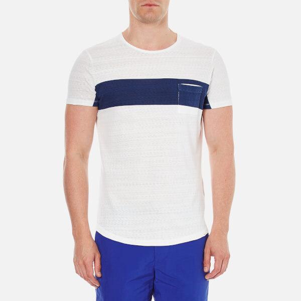 Orlebar Brown Men's Harry Stripe T-Shirt - Limestone/Navy