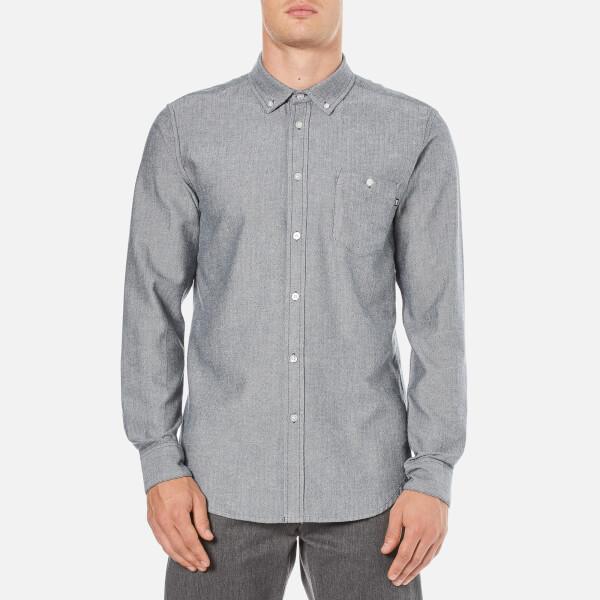OBEY Clothing Men's Wiseman Herringbone Shirt - Navy Multi