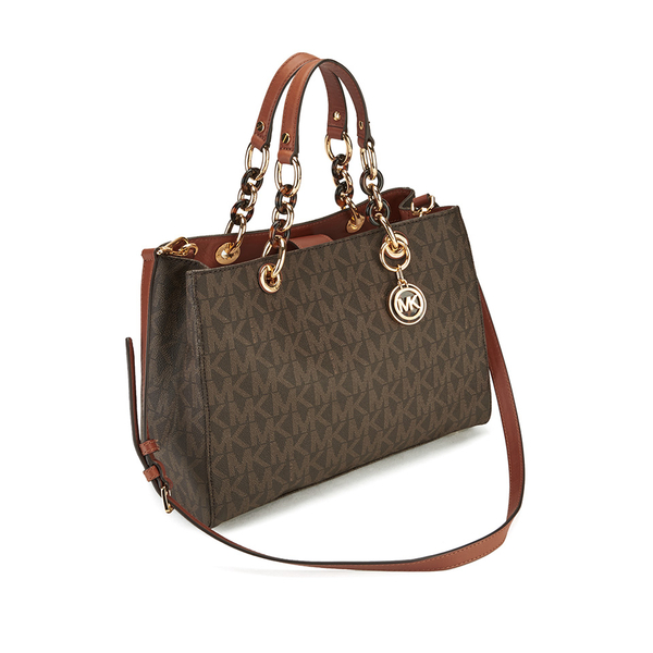 3326e5781ff1 MICHAEL MICHAEL KORS Cynthia Medium Satchel - Brown  Image 3