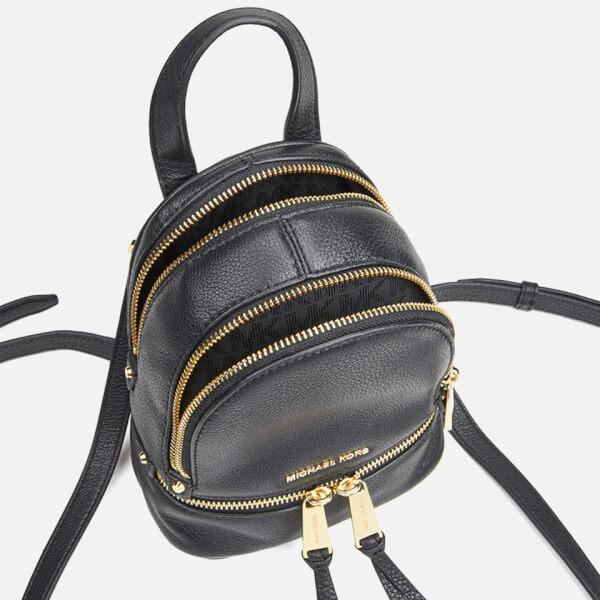 MICHAEL MICHAEL KORS Rhea Zip Small Crossbody Backpack - Black: Image 41