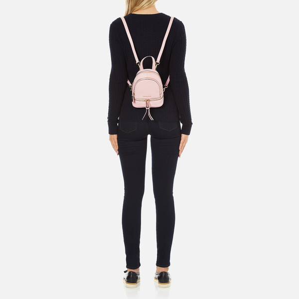 54b71b6f37f0 MICHAEL MICHAEL KORS Rhea Zip Small Crossbody Backpack - Pink  Image 2