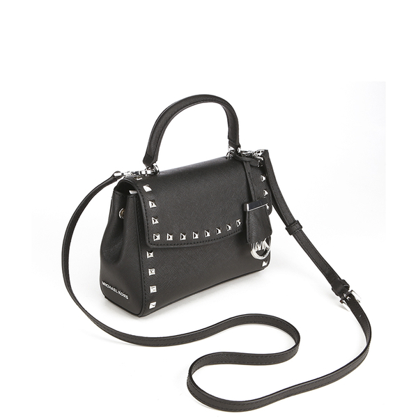6d96e5e6641288 MICHAEL MICHAEL KORS Ava Stud Mini Crossbody Bag - Black: Image 3