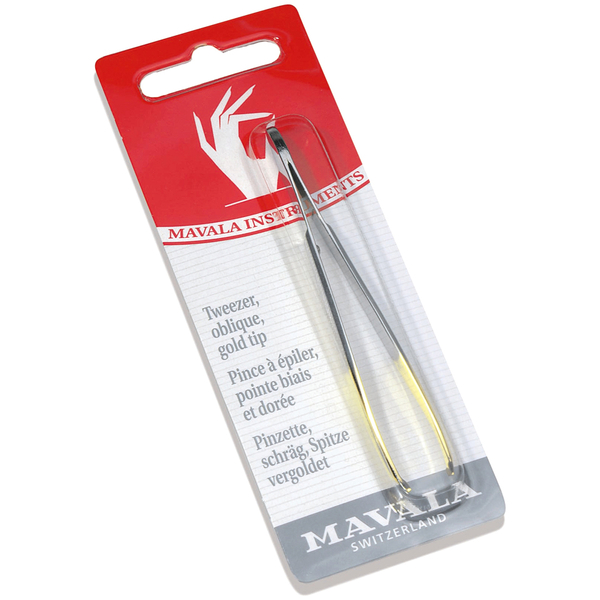 Mavala Oblique Tweezers - Gold Tip