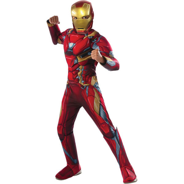 Marvel Avengers Boys' Deluxe Iron Man Fancy Dress