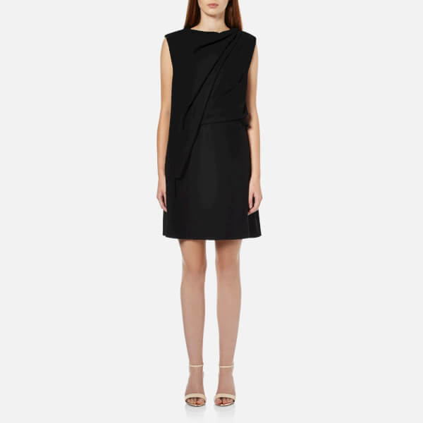 McQ Alexander McQueen Women's Shawl Drape Mini Dress - Black
