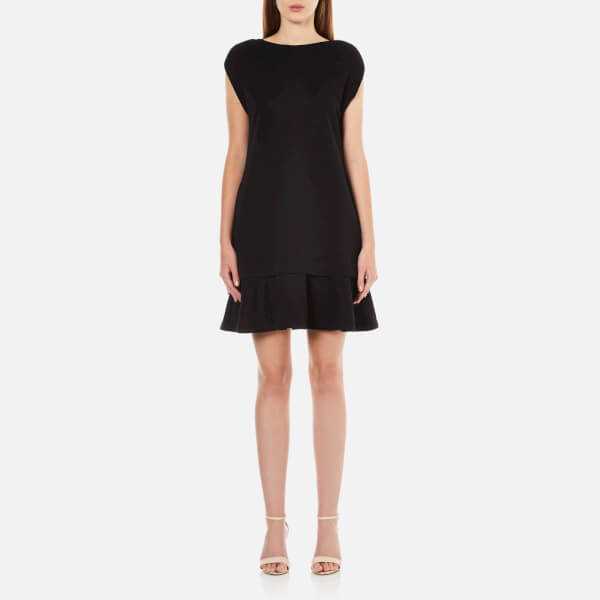McQ Alexander McQueen Women's Peplum Sweater Dress - Darkest Black