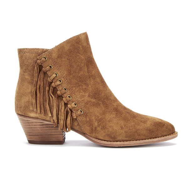 Ash Women's Lenny Suede Tassel Ankle Boots - Russet